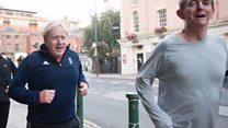 BBC joins Boris Johnson for a morning jog