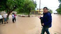 Flash-flooding as hurricane hits Haiti