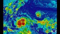 洞窟に避難する人も ハリケーン「マシュー」がカリブ海通過