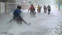 Hurricane continues deadly passage