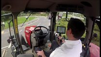 Test driving a driverless tractor in Hampshire