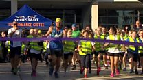Moment 401 marathon man crosses finish line