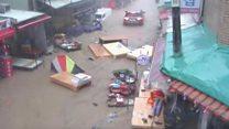 Typhoon Chaba soaks South Korea