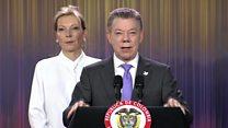 """""""Para que no haya un muerto más, debemos reconciliarnos y unirsos"""": el discurso de Santos tras ganar el Nobel de la Paz"""