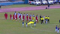 دیدار دوستانه تیم های فوتبال کوبا و آمریکا بعد از حدود هفت دهه