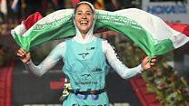 اولین زن ایرانی در مسابقات سه گانه جهانی