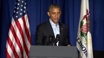 Obama scolds 'insecure' Donald Trump
