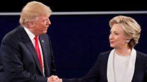 """""""Si yo estuviera a cargo de la ley, tú estarías en la cárcel"""" y momentos tensos del segundo debate entre Clinton y Trump"""