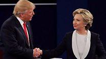 Zazzafar muhawarar Clinton da Trump