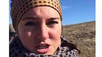 Actress Shailene Woodley films own arrest