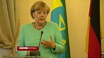 Merkel oo Itoobiya uga digtay in la isticmaalo xoog badan