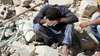 अलेप्पो में भारी बमबारी