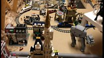 Dad builds Lego city for daughters