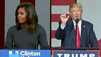 Michelle v Trump's duelling speeches