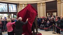 Statue unveiling at Winter Gardens in Blackpool