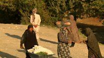 یک روز با زنانی که در مزار شریف در مزارع  کار میکنند
