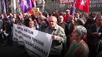 Protesters march against Turkey purge