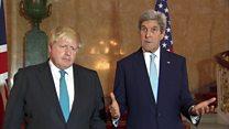 """جان کری، روسیه و سوریه را به """"ارتکاب جنایات جنگی در حلب"""" متهم کرد"""