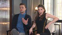Timberlake trolls co-star over singing