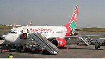 Kenya Airways yafuta safari za ndege