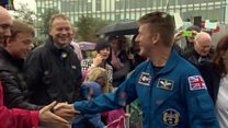 Astronaut Tim Peake meets fans in Glasgow