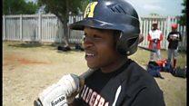 アフリカで育つ未来の野球スター