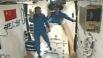 Astronauts enter China's space station