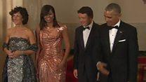 Obamas hold final state dinner
