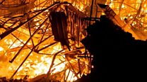 Fire rips through three industrial units