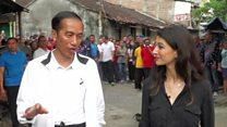 Indonesian president takes BBC to the slum where he was born