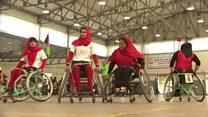 برگزاری دیدار نهایی مسابقات بسکتبال دختران معلول در افغانستان