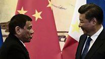ဖိလစ်ပိုင် သမ္မတကို တရုတ် သမ္မတ ကြိုဆို