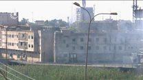 Buildings in Kirkuk under IS gunfire