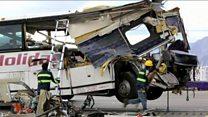 Aftermath of California bus crash