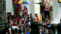 Maduro supporters storm congress