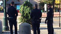 'Manusia pohon' ditangkap karena mengganggu lalu lintas