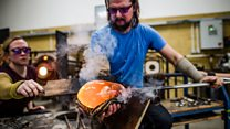 Glassblowers create objects for new Bristol artwork