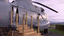 Sea King's reinvention as glamping pod