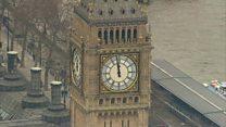 Inside Big Ben's clock tower