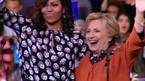 【米大統領選2016】「ミシェル効果」の力 初めてクリントン氏と登壇
