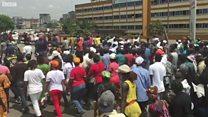 L'oppositon manifeste contre le projet de constitution