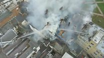 Fire hits Exeter's Cathedral Green