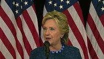 Clinton addresses FBI probe of new emails