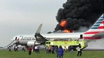 Fire on the runway