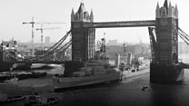 Warship marks 45 years on the Thames