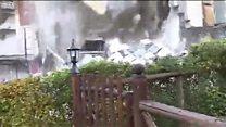 Vea el desplome de una casa y otra devastación por el terremoto en Italia