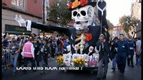 メキシコ版ハロウィン 仮装パレードを開催