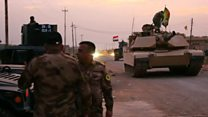 Travelling with Iraqi forces near Mosul