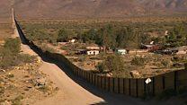 امریکہ اور میکسیکو کو تقسیم کرنے والی دیوار