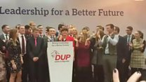 DUP leader apologises after 'on fire' song